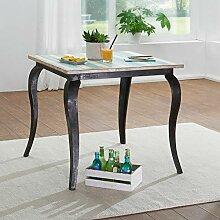 KS-Furniture Esstisch LINA Massivholz Shabby Chic