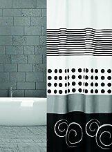 KS Handel 24 Textil Duschvorhang 240x200 cm (Black