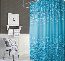 KS Handel 24 Textil Duschvorhang 240x200 cm (blau