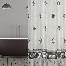 KS Handel 24 Textil Duschvorhang 240x200 cm/Grau