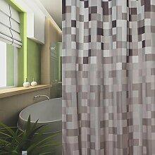 KS Handel 24 Textil Duschvorhang 240x200 cm (Karo)