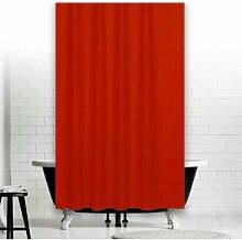 KS Handel 24 Textil Duschvorhang 240x200 cm/Rot Uni