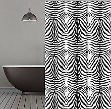 KS Handel 24 Textil Duschvorhang 240x200 cm (Zebra)