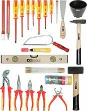 KS Tools 117.0180 Basic Elektriker-Werkzeugkoffer,