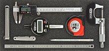 KS Tools 815.1310 Messwerkzeug-Satz, 8-tlg., in 1/3 Systemeinlage