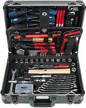 KS Tools 911.0695 Sanitär-Werkzeugkoffer, 95-tlg, Schwarz/Grau/Rot/Blau, 1/4 plus 1/2 Zoll