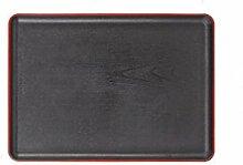 Kschen Rechteckige Rote Sideband Ohr Holz Tablett