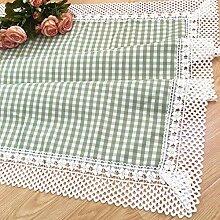 Ksde Tischdecke aus Leinen, quadratisch, 70 x 170