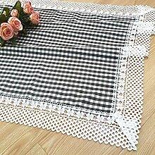 Ksde Tischdecke aus Leinen, quadratisch, 70 x 70 cm
