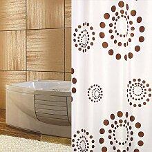KSHANDEL24 Textil DUSCHVORHANG 180 X 230 cm Weiss