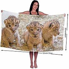KSIY Baby-Badetuch mit Löwenmotiv,