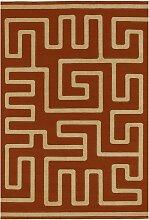 Ksoo RD Durrie Flachgewebe-Teppich aus Wolle &