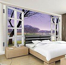 Kssim Lila Rahmen Fenster Landschaft Landschaft 3D