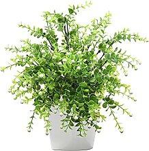 KSTEU Künstliche Plastikblumen Eukalyptus 4