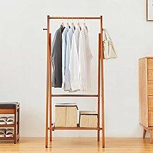 KSUNGB Aufhänger Schlafzimmer Massivholz Kleiderhutrahmen Zuhause Kleiderbügel Multifunktion Lagerregale Einstabiger Typ Faltbar , orange