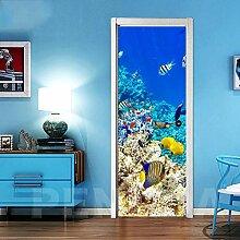 KSYFFS Türtapete Unterwasser Kreativität