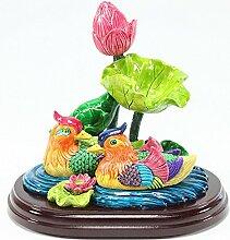 KT Feng Shui Mandarine Enten im Lotus Teich