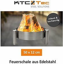 KTC Tec Profi Edelstahl Feuerschale 50 cm Garten