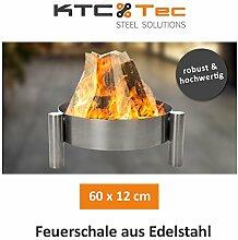 KTC Tec Profi Edelstahl Feuerschale 60 cm Garten