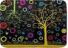 kThrones Badematte Teppich abstrakte Bäume mit