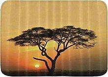 kThrones Badematte Teppich Akazienbaum mit