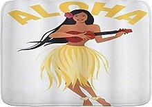 kThrones Badematte Teppich Aloha Schriftzug mit