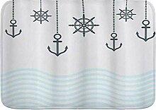 kThrones Badematte Teppich Anker mit den Ketten