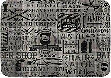 kThrones Badematte Teppich Barbershop Friseur mit
