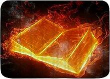 kThrones Badematte Teppich EIN Feuerbuch mit