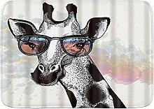 kThrones Badematte Teppich Eine Giraffe mit