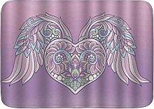 kThrones Badematte Teppich Engel Zierherz mit