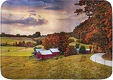 kThrones Badematte Teppich Herbst Farm Scheune