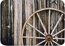 kThrones Badematte Teppich Scheune Holz Wagon