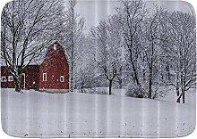 kThrones Badematte Teppich Scheune Schnee