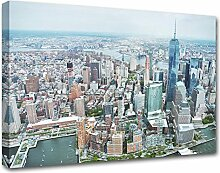 Kuader New York Luftbild Bild Druck Auf Leinwand