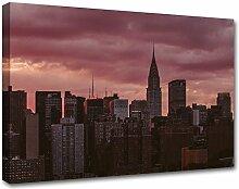 Kuader Skyline Von New York Bild Druck Auf