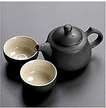 Kuaikaidan schwarze Keramik-Teekanne Teetasse