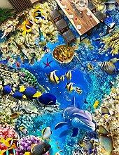 Kuamai 3D Bodenbelag Unterwasserwelt 3D Badezimmer