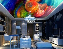 Kuamai 3D Wandbild abstrakte farbenfrohe Spirale