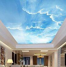 Kuamai 3D Wandbild Himmel Weiße Wolken