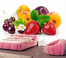 Kuamai Benutzerdefinierte 3D Murals Erdbeere