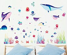 kuamai Cute Cartoon Fisch Wall Sticker Home Decor