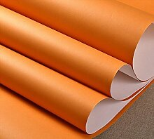 Kuamai Einfache Moderne Vliesstoff Tapete Farbe Schlafzimmer Hintergrundbild Orange