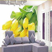 Kuamai Fototapete Stereoskopische Gelbe Tulpen Tv