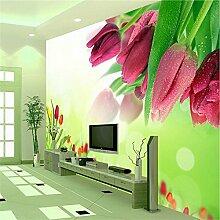 Kuamai Große 3D Fototapeten Fototapete Blume
