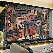 Kuamai Große Englische Alphabete Papel Murals 3D
