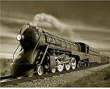 Kuamai Kunden Wandbild Zug Dampfzug Foto Tv Sofa