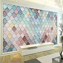 Kuamai Moderne 3D-Effekt Tapete Wandbild Nordische