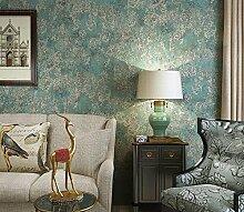 Kuamai Selbstklebende Wasserdicht Tapete Schlafzimmer Schmücken Nonwoven - Stoff Dunkelgrün