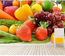 Kuamai Tapete Für Wände 3 D, Erdbeere Frucht